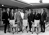 [Disabled American Veterans presentation of wheelchairs to Keiro Nursing Home, Los Angeles, California, September 13, 1970]