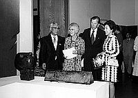 [Modern crafts of Japan exhibition at University of Southern California's Elizabeth Fisher Gallery, Los Angeles, California, September 17, 1970]