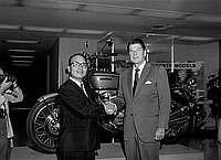 [Los Angeles Governor Ronald Reagan visiting American Honda Motor Company, Gardena, California, September 28, 1970]