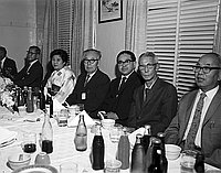 [Reverend Kanshu Ikuta at San Kwo Low restaurant, Los Angeles, California, October 4, 1970]