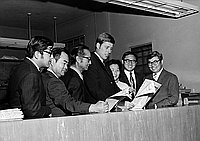 [California U.S. Representative John Tunney at Rafu Shimpo, Los Angeles, California, October 16, 1970]