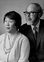 [Iri and Toshiko Maruki, half-portrait, Los Angeles, California, November 21, 1970]