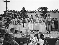 """[""""Miss La Purisma"""" contest on Friendship Day, May 20, 1951]"""