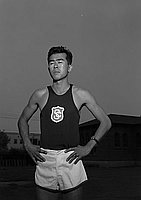 [Henry Aihara, USC track athlete, Los Angeles, California, June 18, 1951]