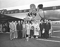 [Moral Re-armament (MRA) group at airport, California, June 1951]
