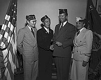 [Casey Kasuyama installed as Commander of American Legion Commodore Perry Post 525, Los Angeles California, August 28, 1951]