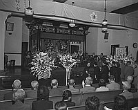 [Hiroshima seventh year memorial service at Higashi Honganji, Los Angeles, California, August 1951]
