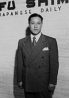 [Takizo Matsumoto and Mr. Tanigawa visit Mayor Bowron, Los Angeles, California, September 20, 1951]