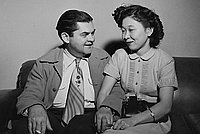 [Maury Carlton and Mae Kumashiro, Los Angeles, California, November 27, 1951]