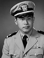 [Harvey Kitaoka, United States Navy aviation officer, head and should portrait]