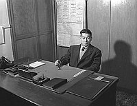 [Jimmie Ito at desk, California, 1951]