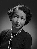 [Mutsu Ando, head and shoulder portrait, February 18, 1950]