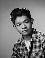 [Takeo Akasaki, Boys State delegate, head and shoulder portrait, Los Angeles, California, April 25, 1953]