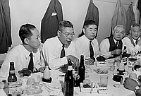 [Mr. Hayato Ikeda at party at Lems Cafe, Los Angeles, California, September 30, 1953]