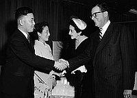 [Party for Japanese Consul General Shinsaku Hogen at Ambassador Hotel, Los Angeles, California, January 1954]