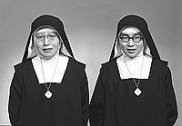 [Sister Maria Okamura and Sister Johanna  Kawakubo of Maryknoll, California, March 9, 1954]