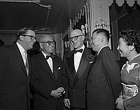 [Mr. Okazaki at formal party at Ambassador Hotel, Los Angeles, California, October 28, 1954]