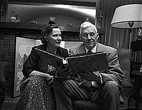 [Dr. Webb, Los Angeles High School Principal, and Mrs. Webb, Los Angeles, California, December 1954]