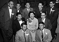 [JACL installation of officers at the Institute of Aeronautical Science, Los Angeles, California, January 22, 1955]