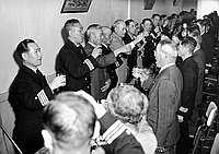 [Japanese Navy visit, California, February 1955]
