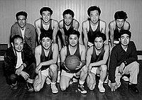 [Los Angeles Glen Nursery basketball team portrait, Los Angeles, California, March 1955]