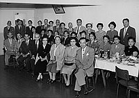 [Far East Travel Service : Kankodan party for Japan trip departure, Los Angeles, California, March 26, 1955]