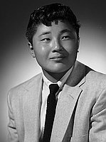 [Kenji Sasaki in suit, head and shoulder portrait, Los Angeles, California, June 3, 1955]