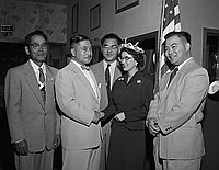 [Japanese American Citizens' League luncheon at San Kwo Low restaurant, Los Angeles, California, June 17, 1955]