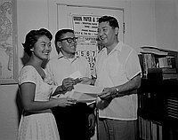 [Orange County Japanese American Citizens' League at JACL office, California, August 9, 1955]