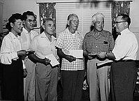 [Seinan Japanese American Citizens' League membership drive, California, September 1, 1955]