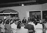 [California State Democrats at Japanese American Democratic Club gathering at Yokozeki home, California, September 25, 1955]