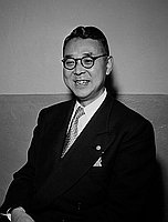 [Ikkaku Matsuzawa, Japanese Olympic swimming coach, Los Angeles, California, April 30, 1950]