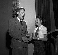 [American Legion Award winner Jane Masumura of Stevenson Junior High, Los Angeles, California, January 3, 1950]