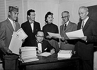 [Southwest Chapter Japanese American Citizens' League mailing certificates to new citizens, California, November 4, 1955]
