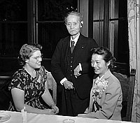 [Yukio Ozaki at Moral Re-armament (MRA) dinner, California, May 18, 1950]