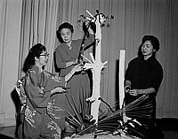 [Flower arrangement at Tenrikyo Church, Los Angeles, California, April 22, 1956]