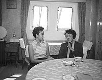[Miss Tange on Brazil Maru, California, April 23, 1956]