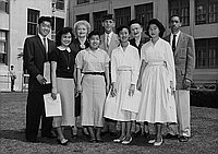 [Students receiving American Legion Awards at Foshay Junior High School, Los Angeles, California, June 11, 1956]