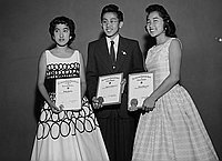 [Hollenbeck Junior High School American Legion School award winners, Los Angeles, California, June 17, 1956]