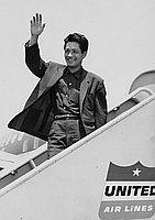 [Jun Negami, movie actor from Japan, arriving at Los Angeles International Airport, Los Angeles, California, June 23, 1956]