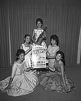 [JACL Nisei relay queen and attendents, June 1956]