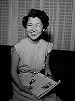 [Miss Kawakami, honor graduate, May 28, 1950]