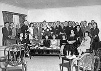 [Party for Japanese minesweepers at Japanese Consul General's house, Pasadena, California, October 26, 1956]
