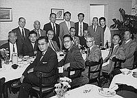 [Stock group meeting at Bit of Tokyo restaurant, Los Angeles, California, November 28, 1956]