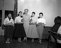 [Sportsmanship and championship awards at International Institute, December 2, 1956]