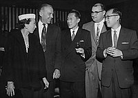 [Iino Kaiun party at Ambassador Hotel, Los Angeles, California, December 6, 1956]
