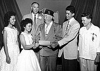[American Legion award winners at Robert Louis Stevenson Junior High School, Los Angeles, California, 1956]