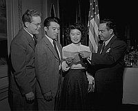 [Miss Shimizu, Bill of Rights winner, January 7, 1950]