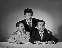 [Bob, Ray and John Kawaguchi, portrait, January 23, 1957]