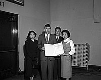 [American Legion awards at Kern Avenue Junior High School, Los Angeles, California, January 25, 1957]